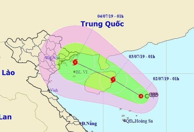 Áp thấp nhiệt đới khả năng mạnh thành bão hướng vào Bắc Bộ - 1
