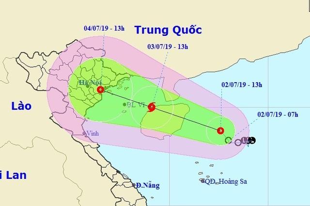 Áp thấp khả năng thành bão, tiếp tục hướng vào đất liền Việt Nam - 1