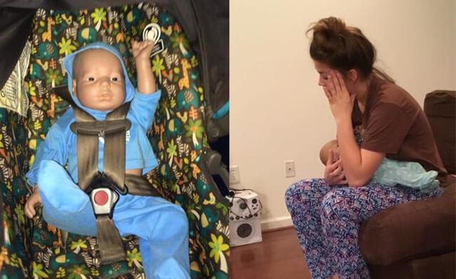Cho học sinh chăm em bé robot để tránh có bầu sớm - 1