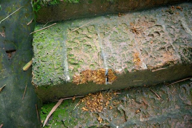 Lối lên chùa Tây Phương bị sứt mẻ vì vận chuyển bể nước - 4