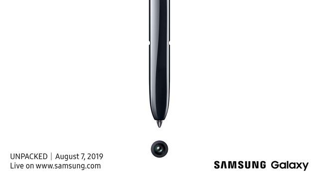 Samsung gửi thư mời sự kiện ra mắt Galaxy Note10, hé lộ cây viết tích hợp camera - 1