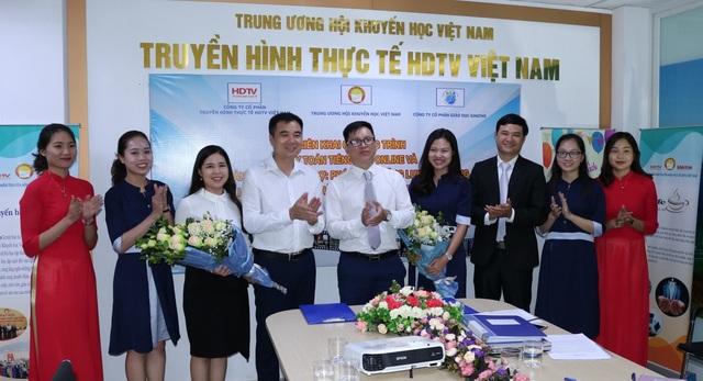 Lễ ký kết giữa Gmaths và công ty cổ phần Truyền hình Thực tế HDTV - 1