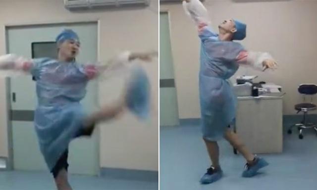 """Chồng nhà người ta: Nhảy múa """"điên cuồng"""" trong phòng sinh để giúp vợ giảm đau! - 1"""