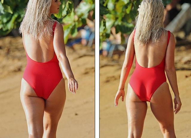 Katy Perry trẻ đẹp khi diện áo tắm đỏ rực - 2