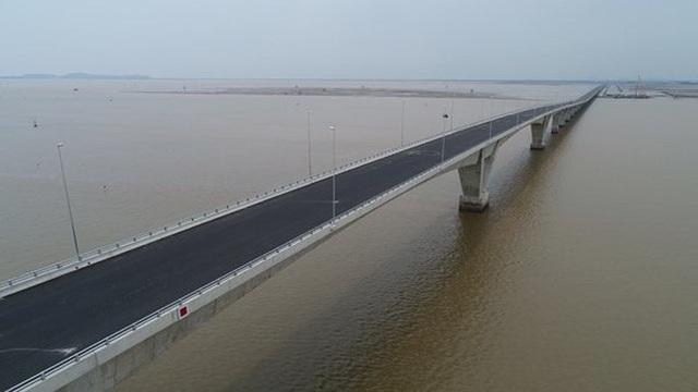 Đường ô tô vượt biển dài nhất Việt Nam: Giảm hiệu quả kinh tế vì chậm tiến độ 4 năm - 1