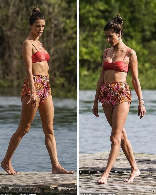 Cựu thiên thần nội y khoe dáng hoàn hảo khi tập yoga trên biển - 19
