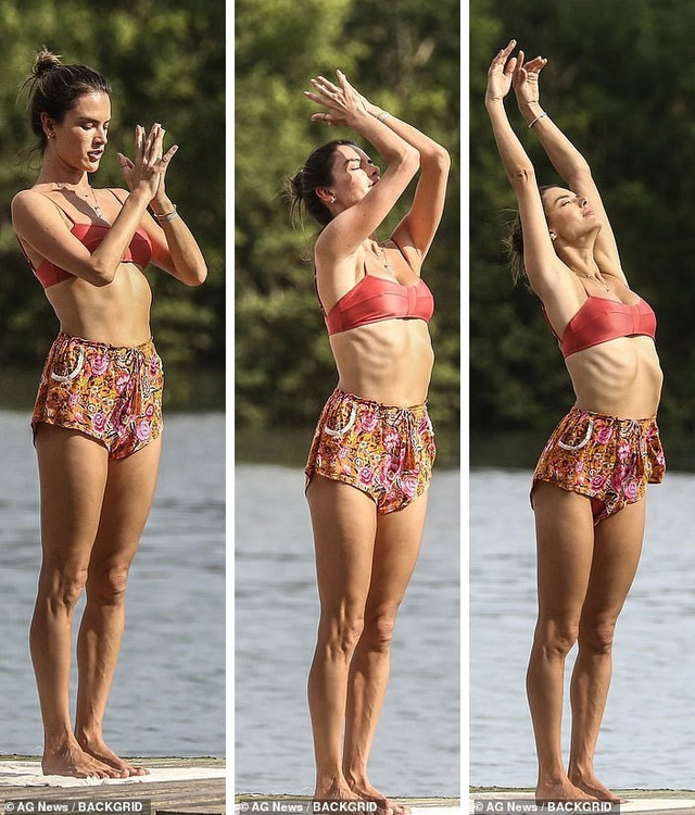 Cựu thiên thần nội y khoe dáng hoàn hảo khi tập yoga trên biển - 4
