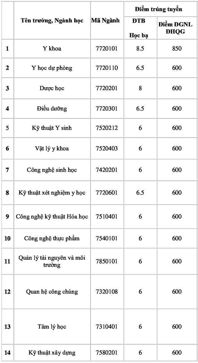 Trường ĐH Nguyễn Tất Thành lấy điểm chuẩn cao nhất là 25,5 điểm - 2