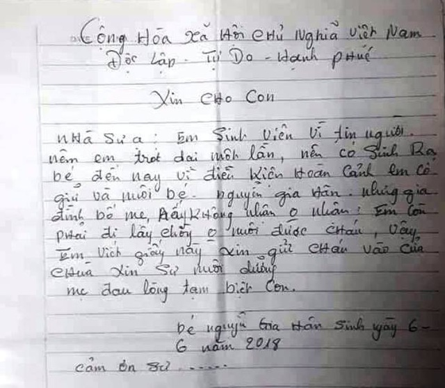 Nhiều người xin nhận nuôi bé gái bị mẹ bỏ rơi trong chùa - 3