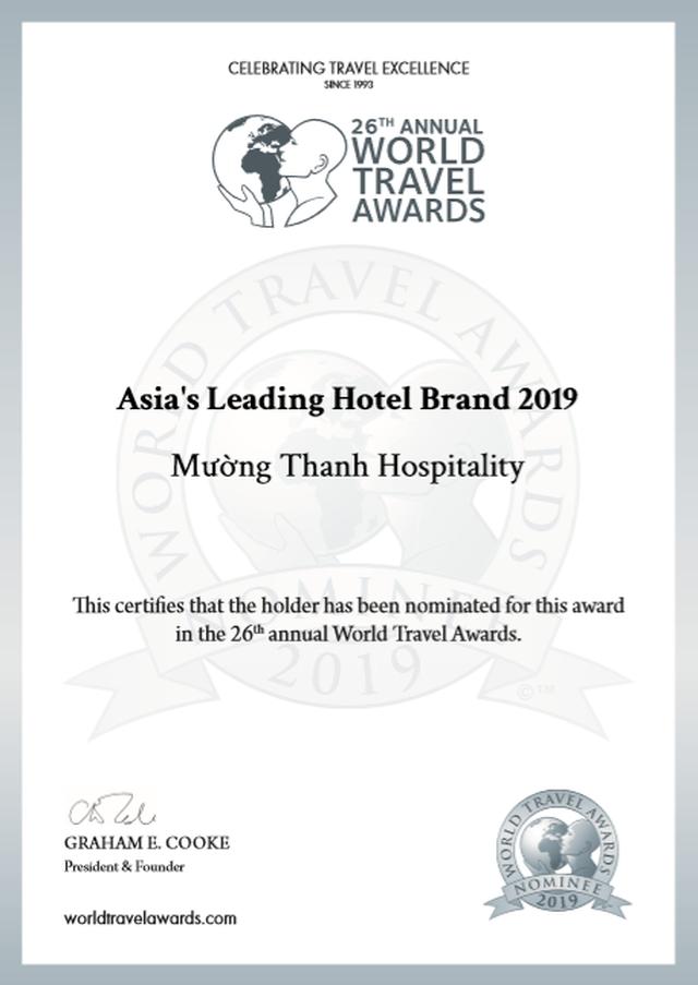 Mường Thanh tiếp tục lọt đề cử  Thương hiệu khách sạn hàng đầu Châu Á 2019 của WTA - 1