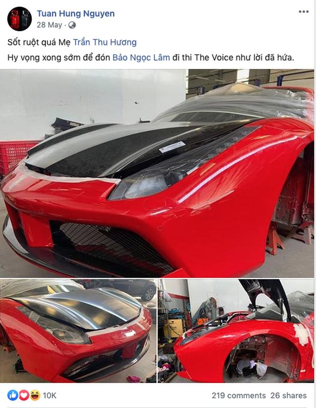 Siêu xe Ferrari từng bị tai nạn nát đầu của ca sĩ Tuấn Hưng giờ ra sao? - 2