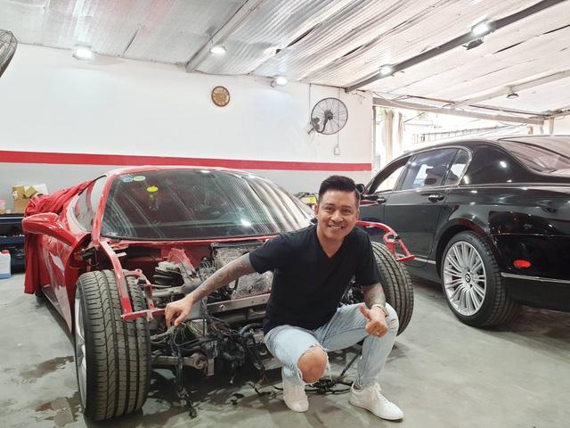 Siêu xe Ferrari từng bị tai nạn nát đầu của ca sĩ Tuấn Hưng giờ ra sao? - 1