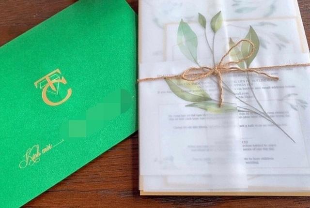 Lộ thiệp cưới và những yêu cầu khi tham dự hôn lễ Quốc Cường - Đàm Thu Trang - 1