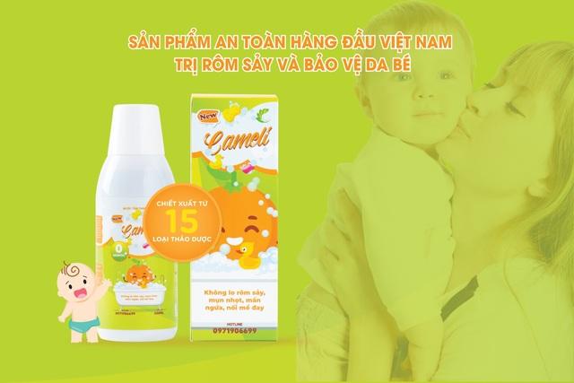 Nước tắm thảo dược Cameli - Sản phẩm an toàn trị rôm sảy cho bé yêu - 4