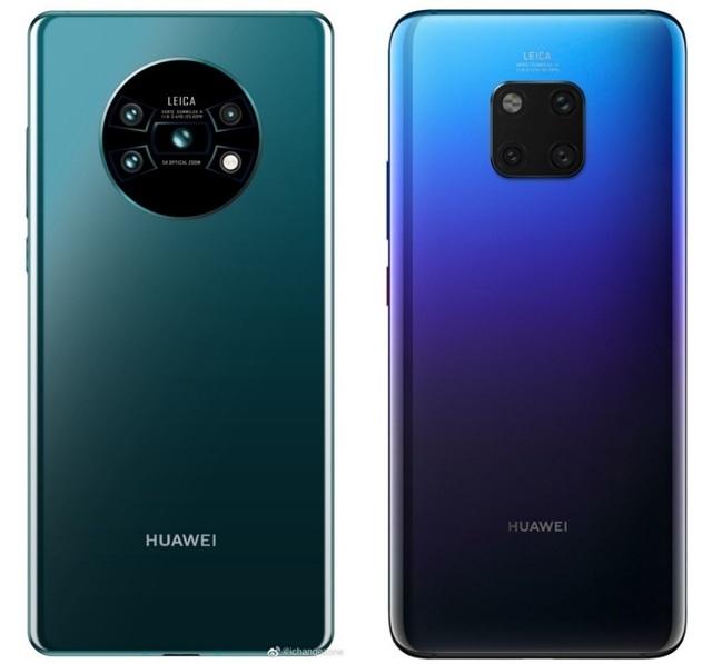 Lộ ảnh Huawei Mate 30 với thiết kế 4 camera độc đáo - 1