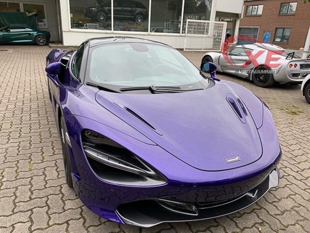 Đại gia Vũng Tàu đặt gạch siêu xe McLaren 26 tỷ đồng màu tím độc - 1