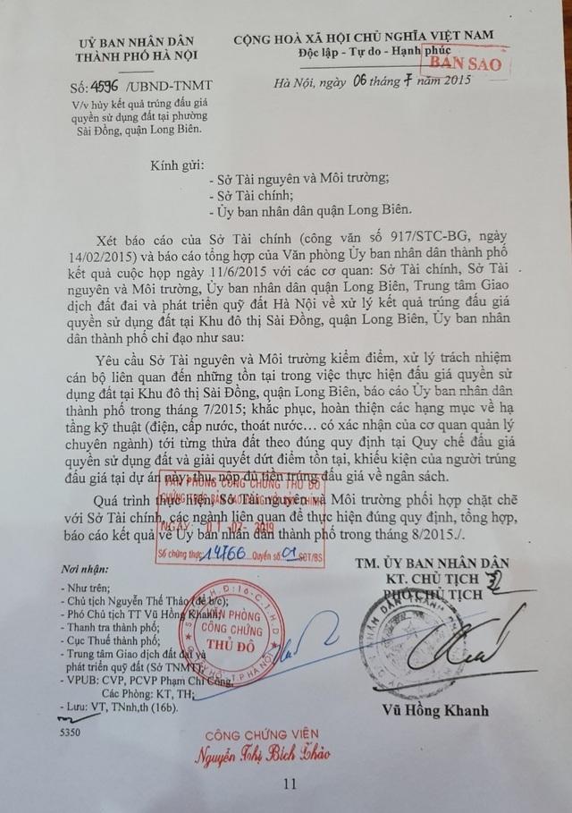 Hà Nội: Trúng đấu giá đất ở khu đô thị mới nhưng 10 năm... vẫn chưa được nhận đất - 2