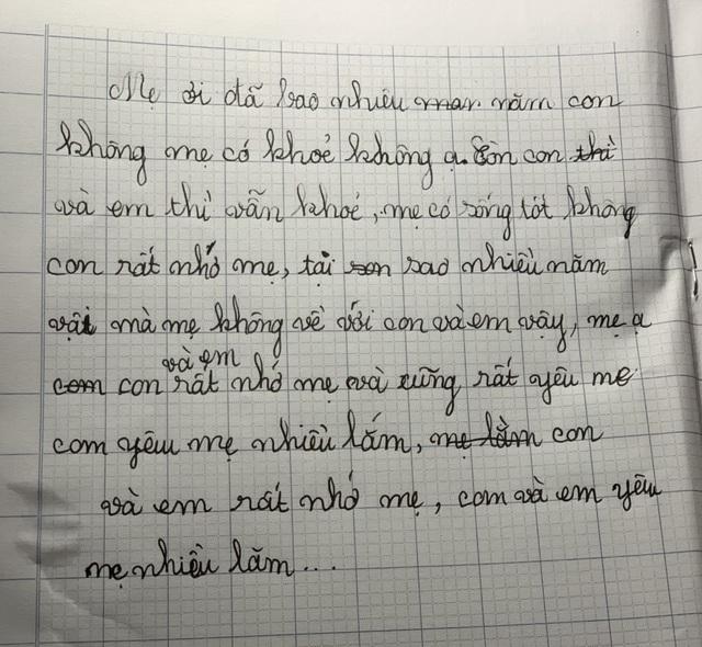 Lá thư viết vội đến nhói lòng của cô bé 10 tuổi tha thiết mong mẹ trở về - 4