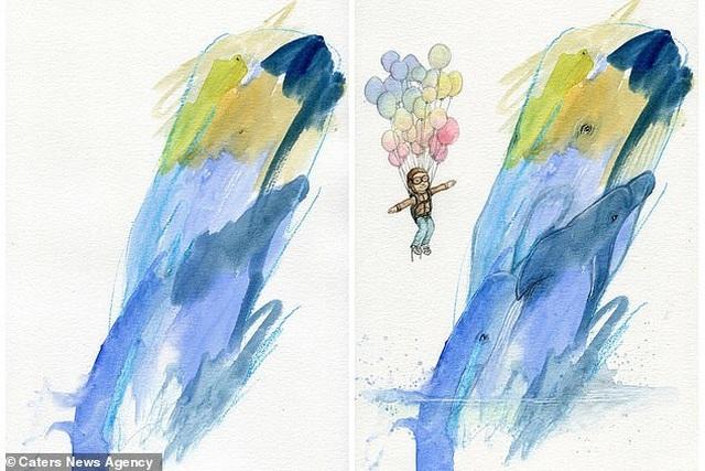 Người mẹ biến những nét vẽ nguệch ngoạc của con trở thành tác phẩm nghệ thuật - 1