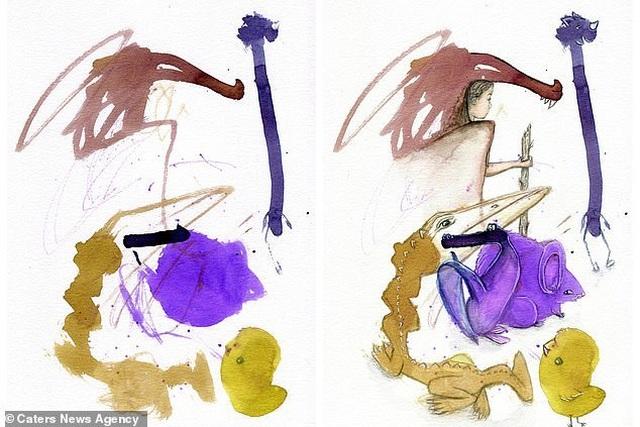 Người mẹ biến những nét vẽ nguệch ngoạc của con trở thành tác phẩm nghệ thuật - 4