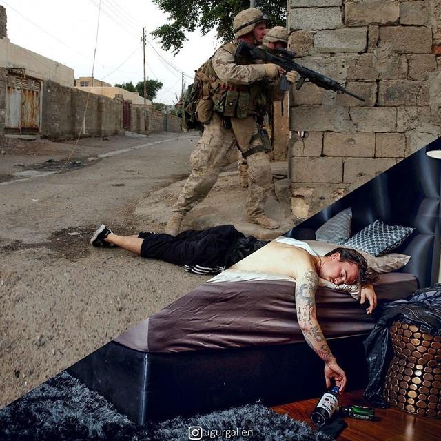 """Dân mạng rơi nước mắt với bộ ảnh """"sự trái ngược đáng sợ giữa chiến tranh và hòa bình"""" - 10"""