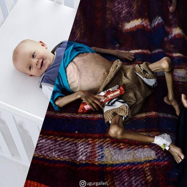 """Dân mạng rơi nước mắt với bộ ảnh """"sự trái ngược đáng sợ giữa chiến tranh và hòa bình"""" - 11"""
