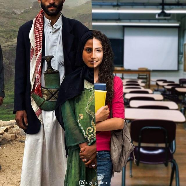 """Dân mạng rơi nước mắt với bộ ảnh """"sự trái ngược đáng sợ giữa chiến tranh và hòa bình"""" - 14"""