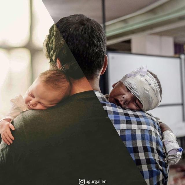 """Dân mạng rơi nước mắt với bộ ảnh """"sự trái ngược đáng sợ giữa chiến tranh và hòa bình"""" - 21"""
