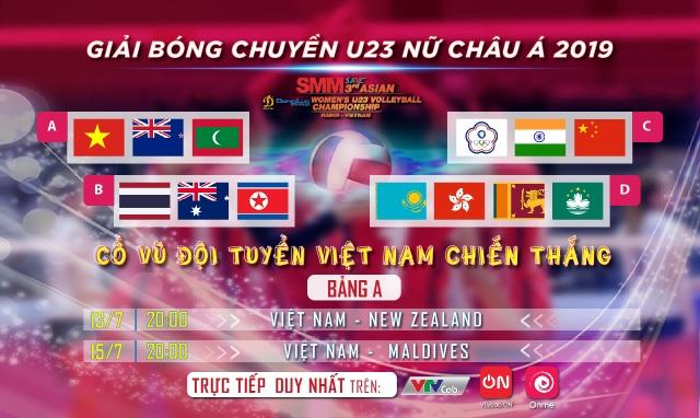 Giải Vô địch Bóng chuyền Nữ U23 Châu Á phát sóng độc quyền trên VTVcab - 1