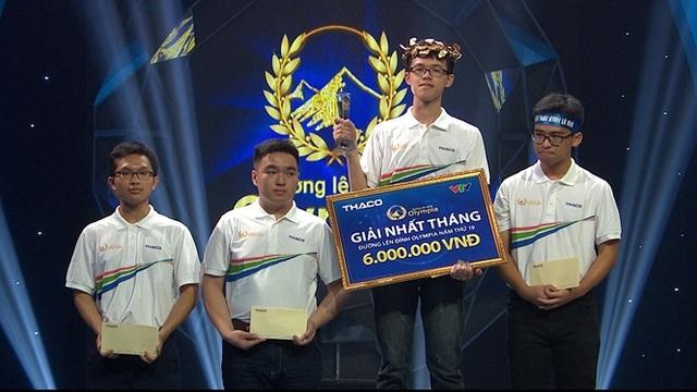 Nam sinh Đắk Lắk giành chiến thắng cuộc thi Tháng 1 Quý 4 Olympia - 1