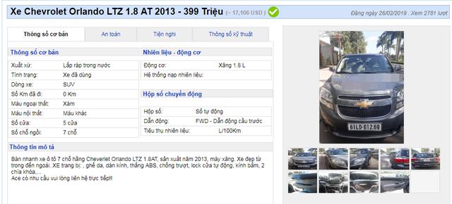 Nhiều mẫu xe đa dụng cũ hạ giá đồng loạt dưới 400 triệu đồng - 5