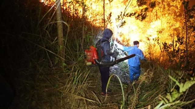 Hơn 500 người trắng đêm vật lộn với lửa rừng ngùn ngụt - 7