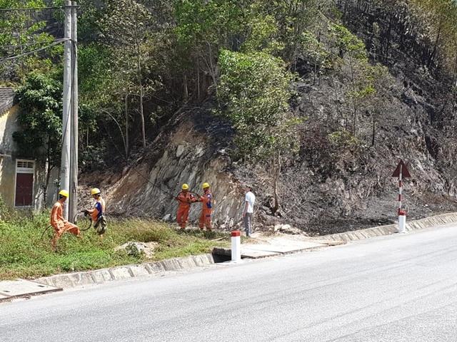 Toàn bộ nhân viên Điện lực Hương Sơn thức trắng đêm để chống cháy rừng - 3