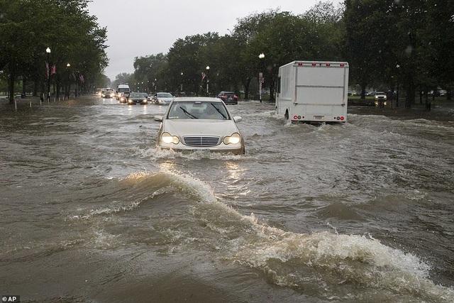 Thủ đô Wasington ngập nặng vì mưa lớn, Nhà Trắng cũng không thoát - 1