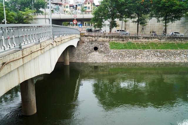Sông Tô Lịch bất ngờ chuyển màu xanh sau khi nhận nước từ hồ Tây - 8