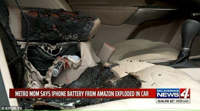 iPhone đặt trong ô tô bất ngờ phát nổ khiến nội thất xe bị bốc cháy - 1