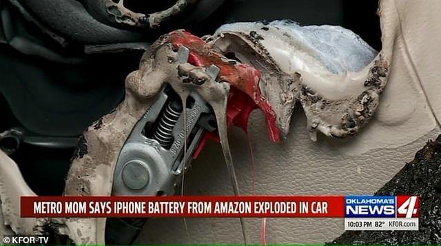 iPhone đặt trong ô tô bất ngờ phát nổ khiến nội thất xe bị bốc cháy - 2