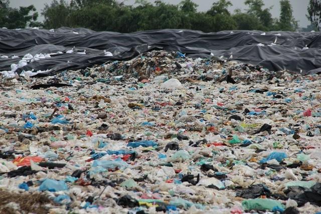 Cận cảnh những núi rác cao hơn ngôi nhà 4 tầng tại TP biển Sầm Sơn - 6