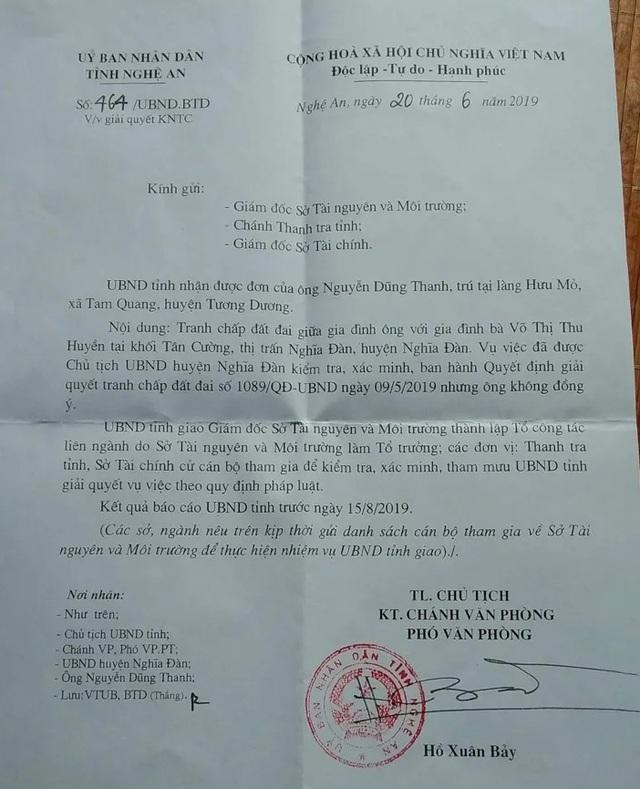 Vụ mua đất gần 30 năm bất ngờ bị tranh chấp: UBND tỉnh Nghệ An chỉ đạo xử lý  - 1