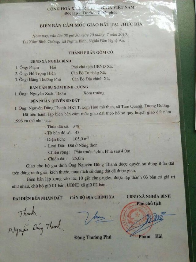 Vụ mua đất gần 30 năm bất ngờ bị tranh chấp: UBND tỉnh Nghệ An chỉ đạo xử lý  - 3