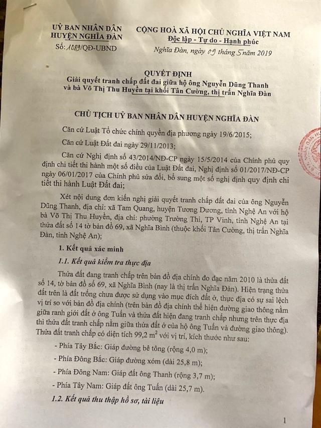 Vụ mua đất gần 30 năm bất ngờ bị tranh chấp: UBND tỉnh Nghệ An chỉ đạo xử lý  - 6