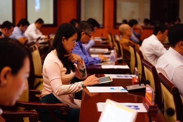 """Khai mạc kỳ họp 15 HĐND TPHCM: Lần đầu tiên triển khai """"kỳ họp không giấy"""" - 9"""