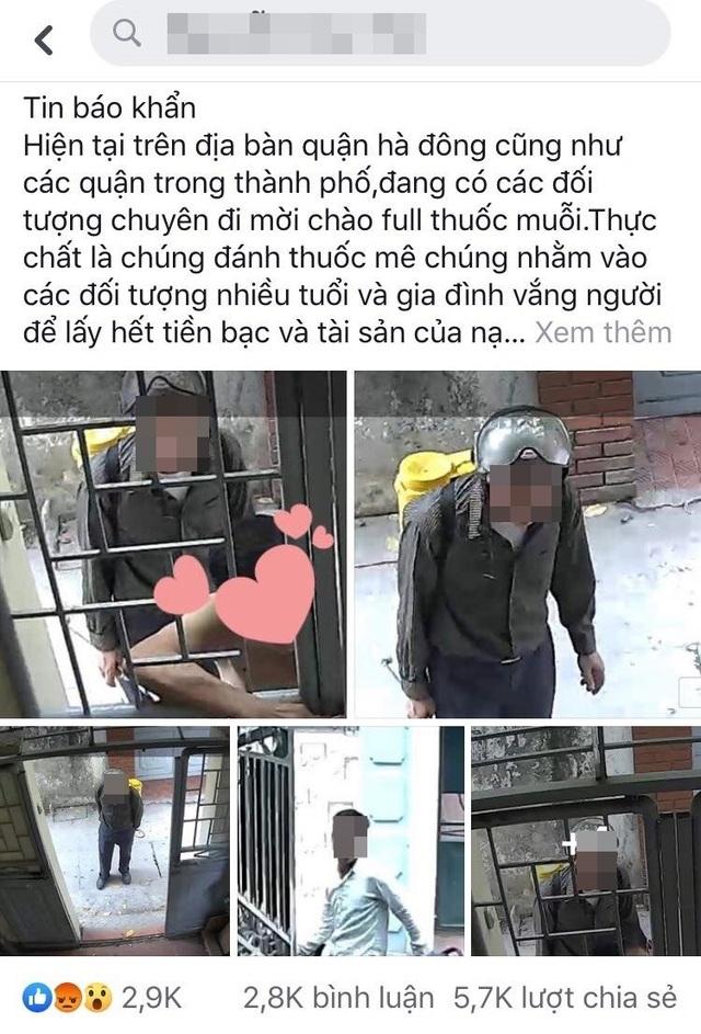 Hà Nội: Xác minh câu chuyện người lạ giả vờ phun thuốc diệt muỗi rồi đánh thuốc mê, cướp tài sản - 1