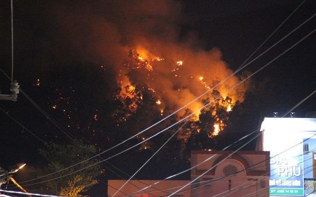 Hơn 600 người xuyên đêm dập đám cháy dữ dội trên núi Bà Hỏa - 3
