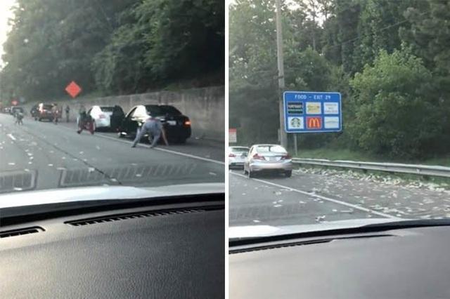 Xe chở tiền đánh rơi 175.000 USD trên cao tốc, tài xế đua nhau hôi của - 1