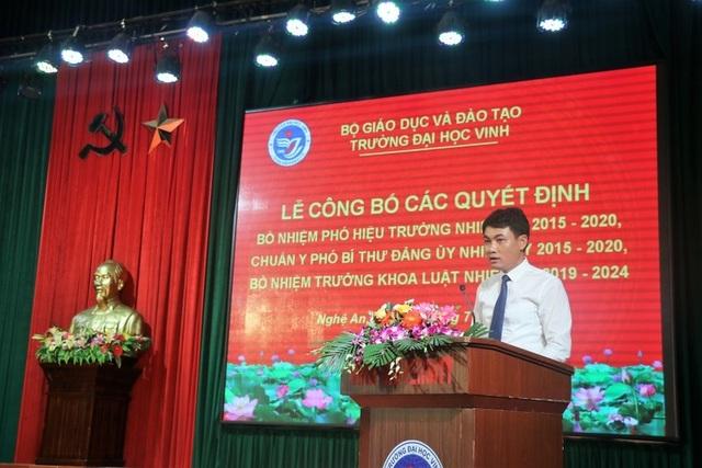 Trường Đại học Vinh bổ nhiệm tân Phó hiệu trưởng - 2