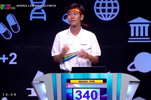 Nam sinh Thái Bình rất nhanh, rất nguy hiểm chiến thắng cuộc thi Tuần Olympia - 2