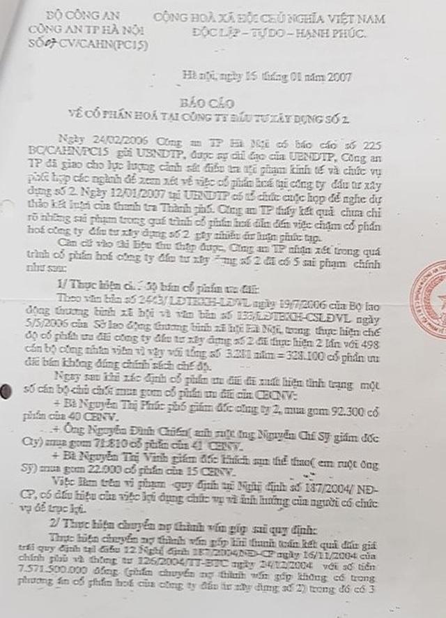Chuyển hồ sơ về sai phạm của nguyên Giám đốc Công ty Hacinco đến Công an TP Hà Nội - 3