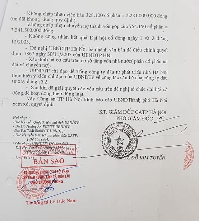 Công an TP Hà Nội xác nhận hàng loạt sai phạm của nguyên Giám đốc Công ty Hacinco - 4