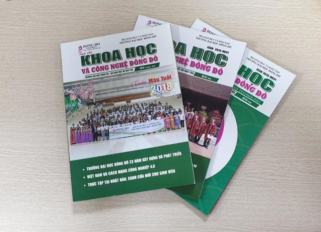Tạp chí Khoa học và Công nghệ Đông Đô được tính điểm năm 2019 - 1